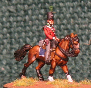 15mm, Napoleonic British Light Infantry Officer AB Figure