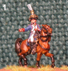 15mm, Napoleonic Mounted Infantry Officer With Plume AB Figure